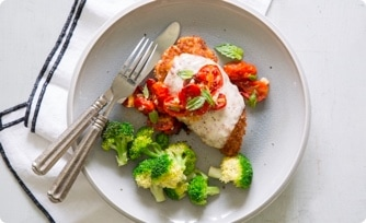Chicken Parmigiana with Roasted Tomato Sauce