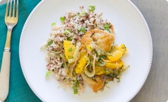 Seared Chicken with Orange-Fennel Salsa
