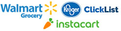 Walmart, Clicklist and Instacart eMeals Options
