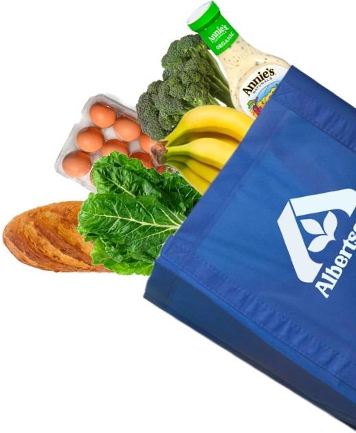 Albertsons Food Bag Cutout