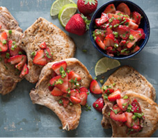 Pork Chops Strawberry Jalapeno Relish
