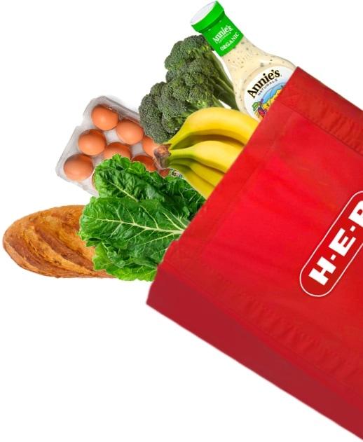 H-E-B Food Bag Cutout