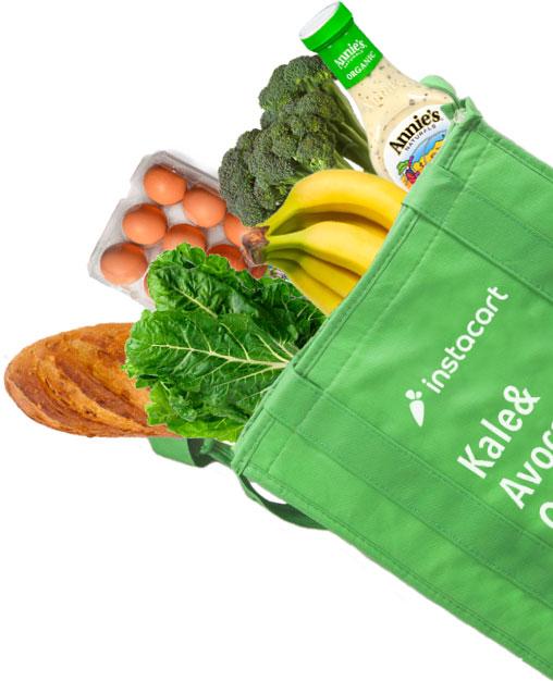 Instacart Food Bag Cutout