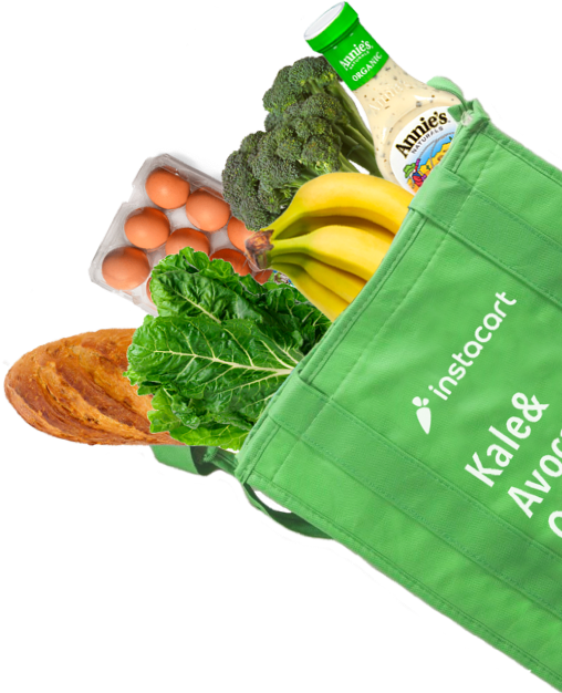 Instacart Food Bag Cutout