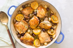 Greek Chicken Thighs with Lemon and Olives