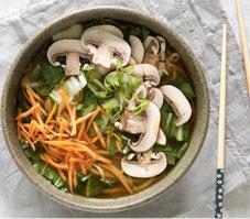 Vegetable Noodle Miso Soup