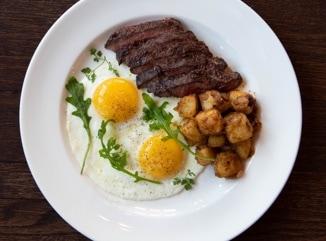 Hanger Steak and Eggs with Potato Hash